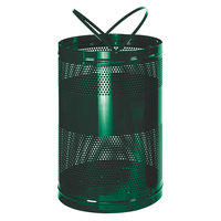 Rubbermaid FGH55E Towne Series Empire Green Perforated Steel Free-Standing Container with Drain Holes 63 Gallon (FGH55EEGN)