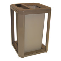 Rubbermaid 397100 Landmark Series Classic Container Driftwood Square Polycarbonate Ash/Trash Frame with FG395800 Rigid Plastic Liner 35 Gallon (FG397100DWOOD)