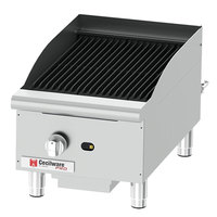 Cecilware Pro CCP15 15 inch One Burner Gas Charbroiler - 40,000 BTU