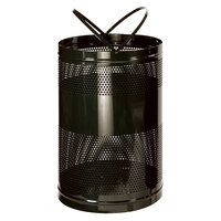 Rubbermaid FGH55E Towne Series Black Perforated Steel Free-Standing Container with Drain Holes 63 Gallon (FGH55EBK)