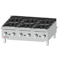 Cecilware Pro HPCP636 36 inch Six Burner Gas Hot Plate - 132,000 BTU