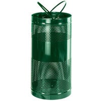 Rubbermaid FGH3 Towne Series Empire Green Perforated Steel Free-Standing Container with Drain Holes and Security Chain Holes 34 Gallon (FGH3EGN)