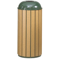 Rubbermaid FGR25T50 Regent 50 Series Round-Top Empire Green Steel and Polyethylene Round Waste Receptacle with Retainer Bands 22 Gallon (FGR25T50RBEGN)