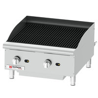 Cecilware Pro CCP24 24 inch Two Burner Gas Charbroiler - 80,000 BTU