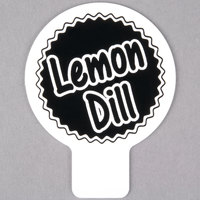 Deli Tag Topper - LEMON DILL - Black