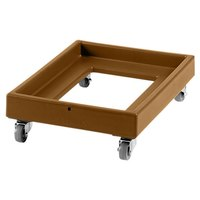Cambro CD2028 Coffee Beige Camdolly Milk Crate Dolly 22 inch x 30 inch - 350 lb.