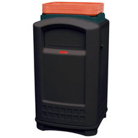 Rubbermaid FG396300 Plaza Black Container with Side Opening Door and Tray Top  50 Gallon (FG396300BLA)