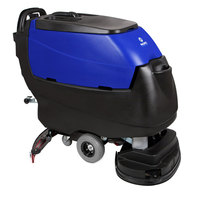 Pacific 875413 S-28 28 inch Walk Behind Auto Floor Scrubber with Transaxle Drive and Chemical Injection - 250AH Maintenance Free AGM Batteries with Charger
