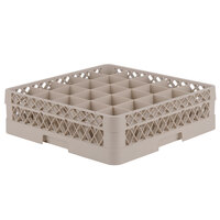 Vollrath TR6A Traex Full-Size Beige 25-Compartment 4 13/16 inch Glass Rack with Open Rack Extender On Top