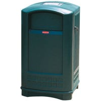 Rubbermaid FG396500 Plaza Dark Green Container with Side Opening Door and Ashtray Top 50 Gallon (FG396500DGRN)