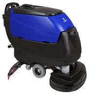 Pacific 875421 S-32 32 inch Walk Behind Auto Floor Scrubber with Transaxle Drive and Chemical Injection - 250AH Maintenance Free AGM Batteries with Charger