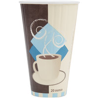 Dart Solo IC20-J7534 Duo Shield 20 oz. Poly Paper Hot Cup - 35/Pack