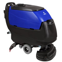 Pacific 875402 S-24 24 inch Walk Behind Auto Floor Scrubber with Transaxle Drive - 250AH Maintenance Free AGM Batteries with Charger