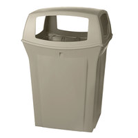 Rubbermaid FG917388 Ranger Beige Container with 4 Openings 45 Gallon (FG917388BEIG)