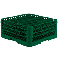Vollrath TR12HHH Traex Rack Max Full-Size Green 30-Compartment 7 7/8 inch Glass Rack