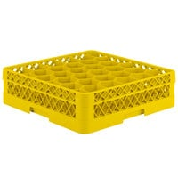 Vollrath TR12H Traex Rack Max Full-Size Yellow 30-Compartment 4 13/16 inch Glass Rack