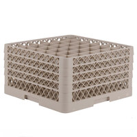 Vollrath TR7CCCC Traex Full-Size Beige 36-Compartment 9 7/16 inch Glass Rack
