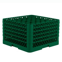 Vollrath TR7CCCCC Traex Full-Size Green 36-Compartment 11 inch Glass Rack