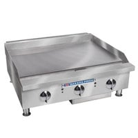 Bakers Pride BPHMG-2448i Natural Gas 48 inch Heavy Duty Manual Control Countertop Griddle - 160,000 BTU