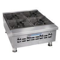 Bakers Pride BPHHP-212i 12 inch Two Burner Heavy Duty Hot Plate - 60,000 BTU