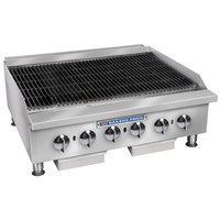 Bakers Pride BPHCB-2436i Natural Gas 36 inch Heavy Duty Radiant Charbroiler - 120,000 BTU