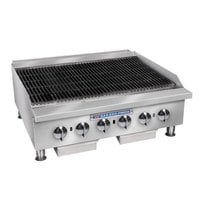 Bakers Pride BPHCB-2448i Natural Gas 48 inch Heavy Duty Radiant Charbroiler - 160,000 BTU