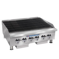 Bakers Pride BPHCRB-2448i Natural Gas 48 inch Heavy Duty Glo-Stone Charbroiler - 160,000 BTU