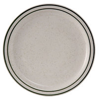 Tuxton TES-009 Emerald 9 1/2 inch Green Speckle Narrow Rim China Plate - 24/Case