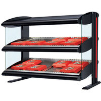 Hatco HXMH-54D Black Xenon 54 inch Horizontal Double Shelf Merchandiser