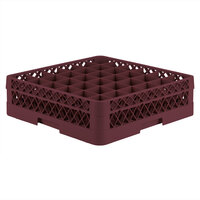 Vollrath TR7A Traex Full-Size Burgundy 36-Compartment 4 13/16 inch Glass Rack with Open Rack Extender On Top