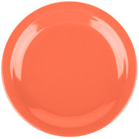 Carlisle 4350352 Dallas Ware 7 1/4 inch Sunset Orange Melamine Plate - 48/Case