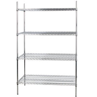 Regency 24 inch x 48 inch NSF Chrome Shelf Kit with 74 inch Posts