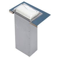 San Jamar H2000SC In-Counter Minifold Napkin Dispenser - Satin Chrome