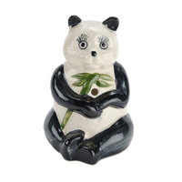 Town 51092 7.5 oz. Panda Ceramic Cup - 12/Case