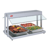Hatco GRBW-30 30 inch Glo-Ray White Granite Buffet Warmer with Infinite Controls - 1230W