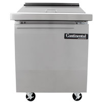 Continental Refrigerator SW27-12M 27 inch Mighty Top Sandwich Prep Refrigerator with Solid Door