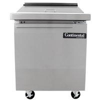 Continental Refrigerator SW27-12M 27 inch Mighty Top Sandwich Prep Refrigerator with Solid Door