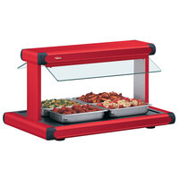 Hatco GR2BW-30 30 inch Glo-Ray Warm Red Designer Buffet Warmer with Warm Red Insets - 1230W