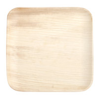 Eco-gecko 8 inch Square Sustainable Palm Leaf Plate   - 100/Case