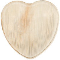 Eco-gecko Sustainable 6 1/2 inch Heart Palm Leaf Plate 100 / Case