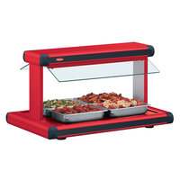 Hatco GR2BW-72 72 inch Glo-Ray Warm Red Designer Buffet Warmer with Warm Red Insets - 3185W