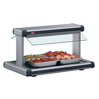 Hatco GR2BW-66 66 inch Glo-Ray Gray Granite Designer Buffet Warmer with Black Insets - 2920W