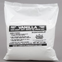 Carnival King Non-Dairy and Sugar Free Vanilla Soft Serve Ice Cream Mix 3.4 lb. Bag - 4/Case