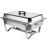 8 Qt. Stainless Steel Rectangular Folding Chafer Set