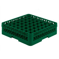 Vollrath TR9A Traex Full-Size Green 49-Compartment 4 13/16 inch Glass Rack with Open Rack Extender On Top