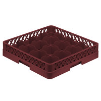 Vollrath TR4 Traex Full-Size Burgundy 16-Compartment 3 inch Cup Rack