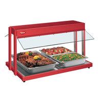 Hatco GRBW-60 60 inch Glo-Ray Warm Red Buffet Warmer with Thermostatic Controls - 2600W