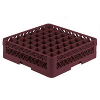 Vollrath TR9A Traex Full-Size Burgundy 49-Compartment 4 13/16 inch Glass Rack with Open Rack Extender On Top