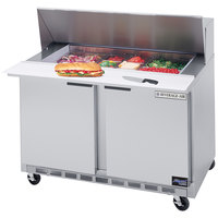 Beverage Air SPE48-12M 48 inch Mega Top Refrigerated Salad / Sandwich Prep Table