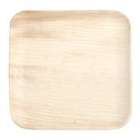 Eco-gecko Sustainable 8 inch Square Palm Leaf Plate 25 / Pack
